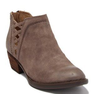 Born Womens Ankle Bootie Leather Zip Western Woven